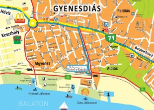 Map of Gyenesdiás