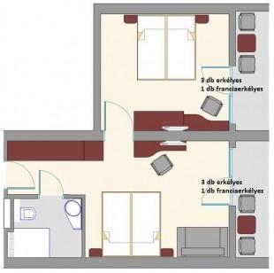 Exclusive cameră de familie dubla cu camere de interconectare
